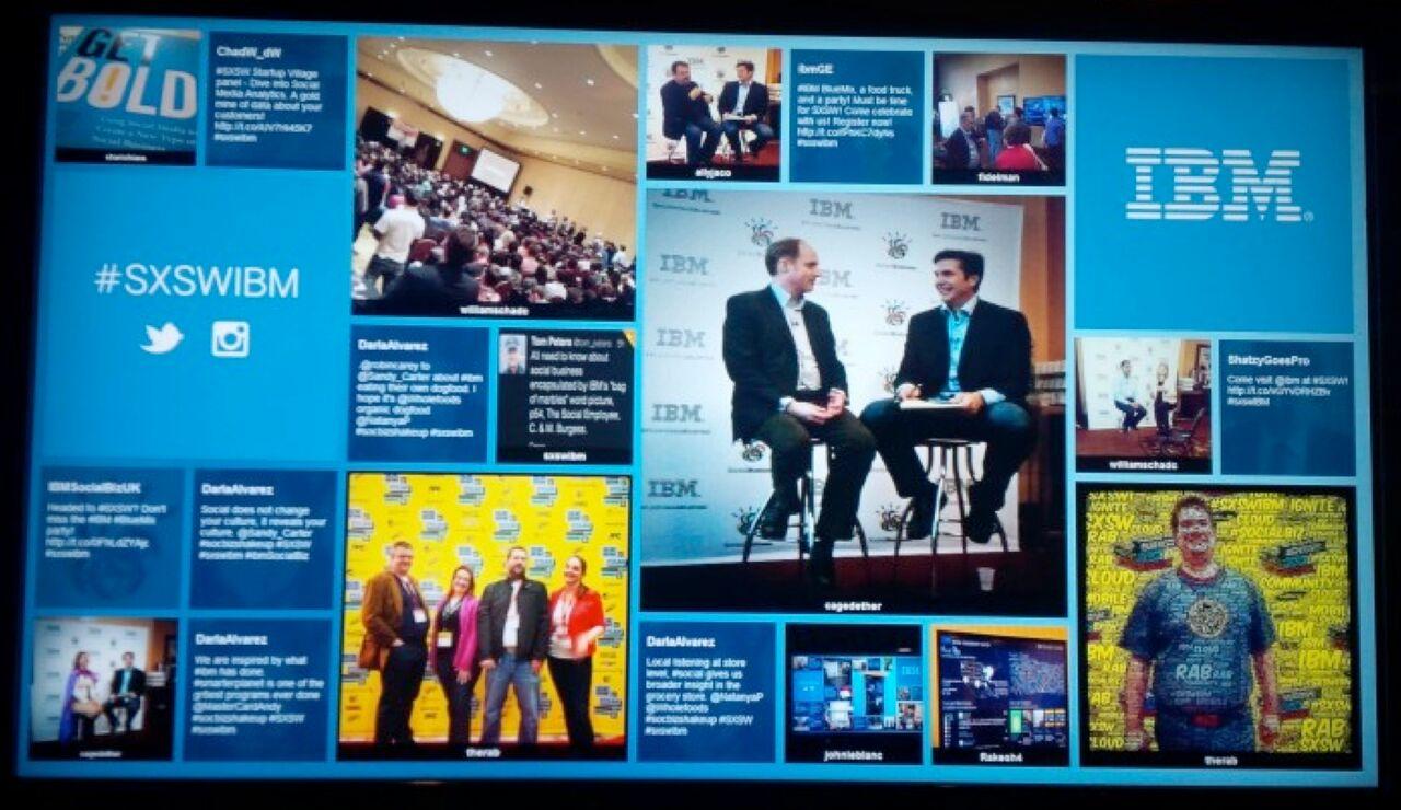 IBM at SXSW Social Media Wall