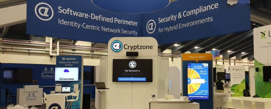 Cryptzone using Virtual Prize Wheel Interactive Game in their trade show booth at RSA 2017