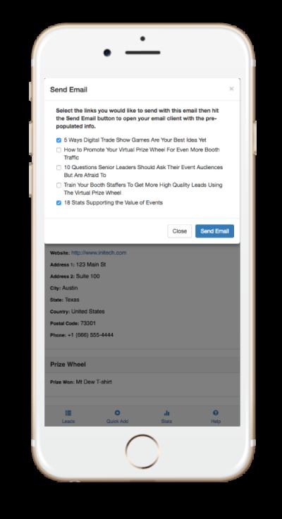 SocialPoint Lead Capture App Send Digital Documents