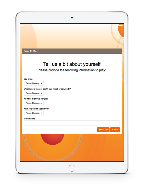 SocialPoint Digital Fishbowl Trade Show Lead Capture iPad - Survey