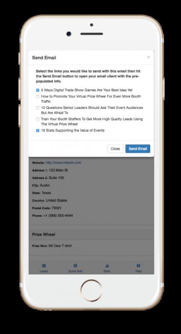 SocialPoint Trade Show Lead Capture App e-literature fulfillment