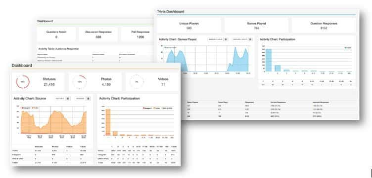 interactive tradeshow games analytic reports and lead capture data downloads