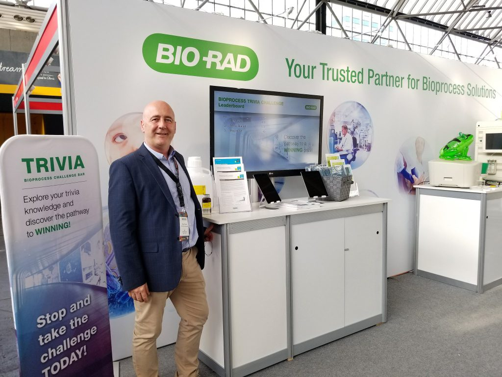 Bio-Rad at BPI Europe 2018 interactive healthcare trivia trade show game