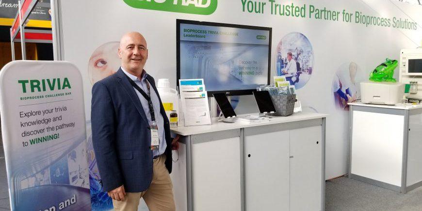 Bio-Rad at BPI Europe 2018 interactive healthcare trivia trade show game