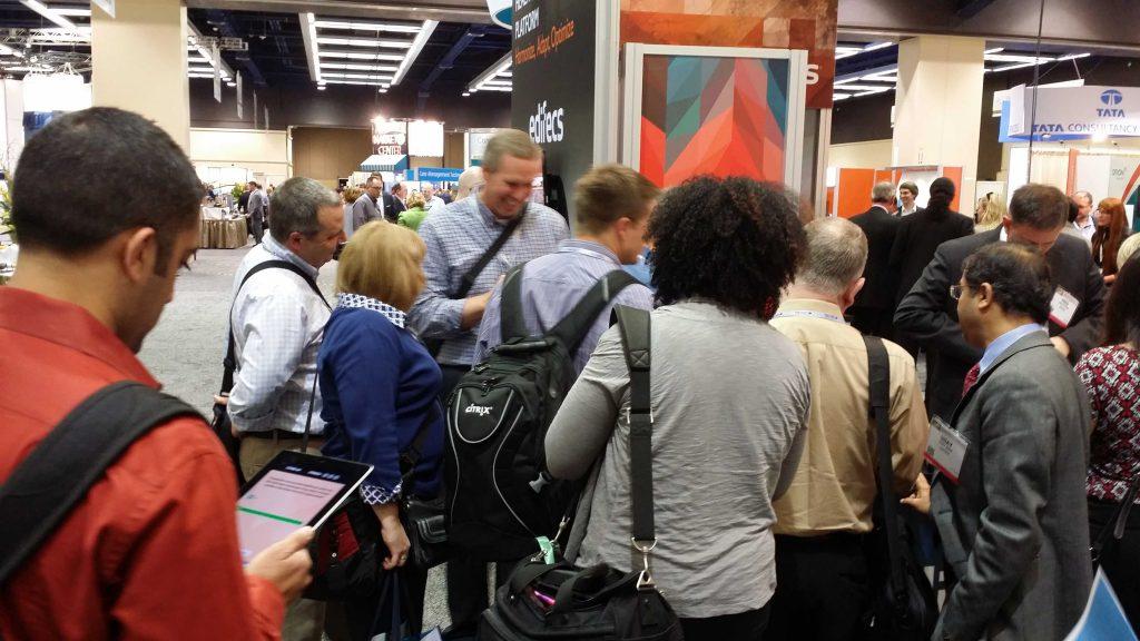 Edifecs interactive trade show game medical exhibitor