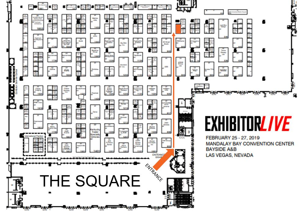 Map to SocialPoint booth at EXHIBITORLIVE 2019