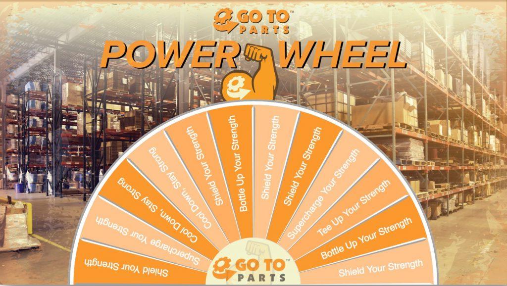 Get Parts virtual prize wheel photo background interactive trade show game design idea