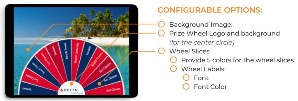 Virtual Prize Wheel - configurable options