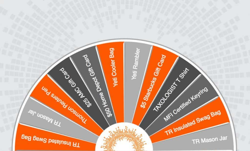 Virtual Prize Wheel graphic texture design example