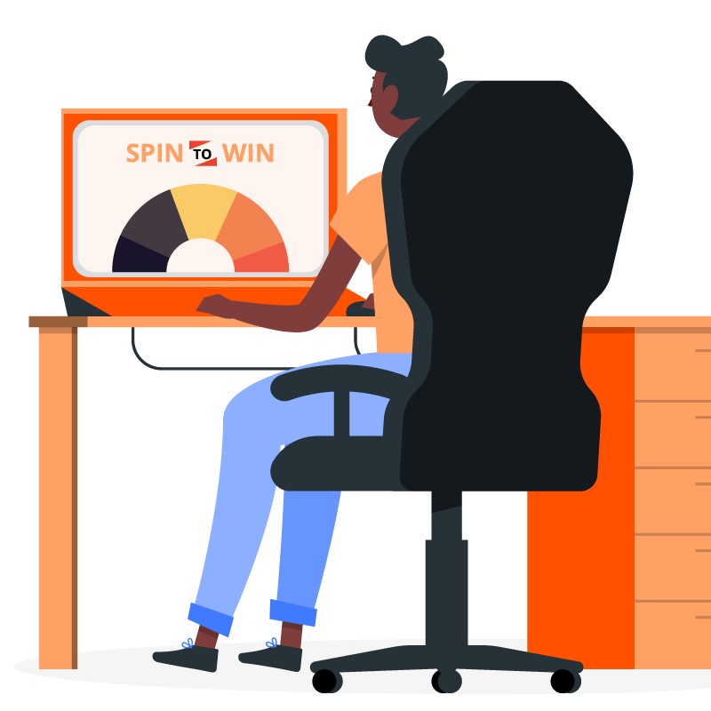Spin-to-Win Virtual Prize Wheel in virtual event