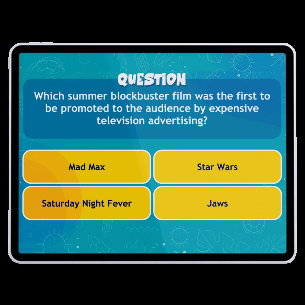 SocialPoint VIrtual Trivia Question Screen